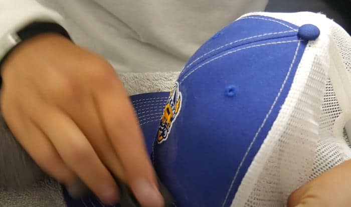 how to clean a baseball cap with cardboard