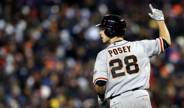 how many gold gloves does buster posey have